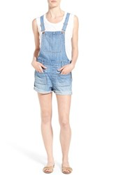 Women's Madewell Cutoff Denim Short Overalls Isley Wash
