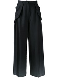 Bianca Spender Draped Laterals Trousers Black