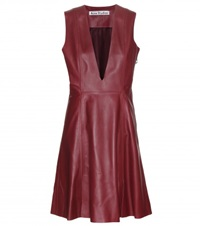 Acne Studios Lavren Leather Dress Red