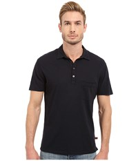 7 For All Mankind Raw Placket Polo Midnight Navy Men's Short Sleeve Pullover Blue