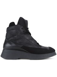 Julius Panelled Hi Top Sneakers Black