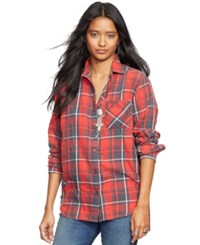 Denim And Supply Ralph Lauren Plaid Boyfriend Shirt