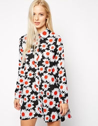 Love Shirt Dress In Daisy Print Multi