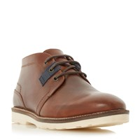 Linea Cracker Jack White Sole Lace Up Boots Brown
