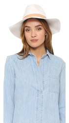 Rag And Bone Wide Brim Fedora Off White