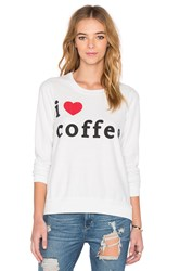 Chaser I Heater Coffee Graphic Tee White