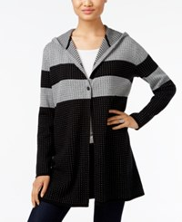 Styleandco. Style Co. Striped Hooded Cardigan Only At Macy's Bold Heather Grey Black