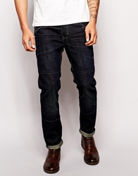 Asos Straight Jean In Engineered Style Blue