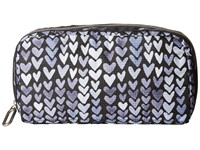 Le Sport Sac Essential Cosmetic Case Painted Hearts Blue Cosmetic Case Navy