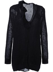 Twin Set Tie Fastening Cardigan Black