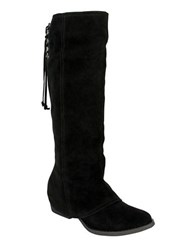 Naughty Monkey Arctic Solstice Suede Tall Shaft Boots Black