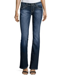 Miss Me Mid Rise Boot Cut Jeans Medium Dark Blue
