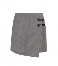 Marc By Marc Jacobs Wrap Front Miniskirt Grey