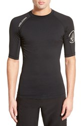 Men's Volcom Fitted Half Sleeve Rashguard Black