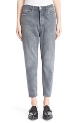 Women's The Great 'The Mister Slouch' Hand Painted Distressed Boyfriend Jeans Worn Grey Wash