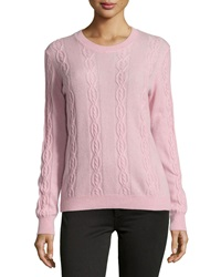Minnie Rose Cashmere Cable Knit Crewneck Sweater Bunny Slop