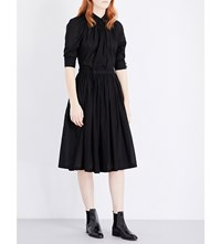 Ys Fit And Flare Cotton Dress Black