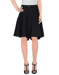 Minimal Skirts Knee Length Skirts Women Black