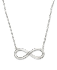 Giani Bernini Sterling Silver Necklace Infinity Pendant
