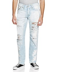 True Religion Ricky Flap Pocket Relaxed Fit Jeans In Indigo Oasis