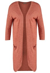 Vero Moda Vmhallie Meghan Cardigan Canyon Sunset Melange With Henna Coral