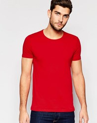 United Colors Of Benetton Crew Neck T Shirt Red
