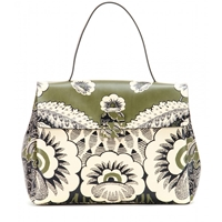 Valentino Covered Printed Leather Satchel