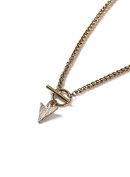 Topman Gold Look T Bar And Arrow Pendant Necklace