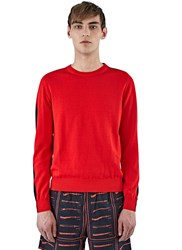 J.W.Anderson Bi Colour Crew Neck Sweater Red