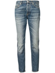 Golden Goose Deluxe Brand Cropped Slim Fit Jeans Blue