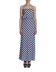 Susana Monaco Striped Tube Gown Blue