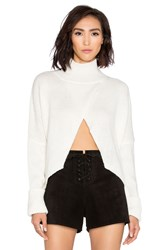 One Teaspoon The First Class High Neck Sweater White
