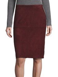 Eileen Fisher Suede Pencil Skirt Wine