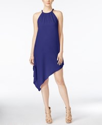 Xoxo Juniors' Cascade Handkerchief Hem Dress Cobalt