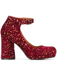 Chie Mihara Chunky Heel Pumps Red