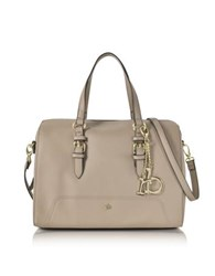 Roccobarocco Rb Large Saffiano Eco Leather Top Zip Satchel Bag Nude
