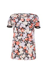 Agnona Short Sleeve Floral T Shirt Multi