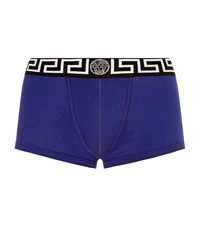 Versace Low Rise Trunks Male Blue