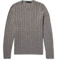 Incotex Cable Knit Virgin Wool Sweater Gray