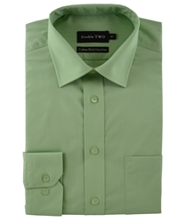 Double Two Long Sleeved Shirt Green