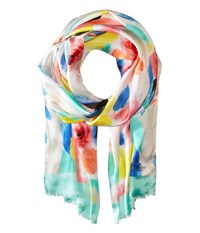 Kate Spade Watercolor Oblong Scarf Mint Liqueur