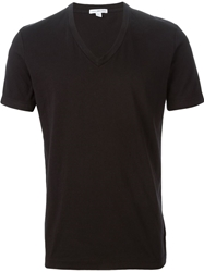 James Perse V Neck T Shirt Black
