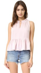 Rebecca Taylor Sleeveless Peplum Top Sheer Pink