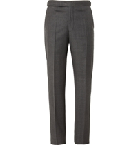 Richard James Charcoal Relaxed Fit Wool Suit Trousers Gray