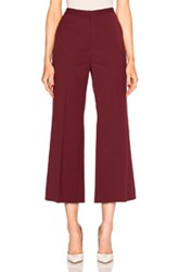 Rosetta Getty Cropped Straight Flare Pant In Red