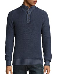 Lucky Brand Washed Out Mock Neck Pullover Black Iris