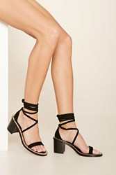 Forever 21 Studded Lace Up Heels