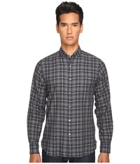Todd Snyder Italian Small Check Button Up Black Grey Men's Clothing