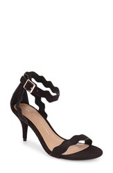 Women's Chinese Laundry 'Rubie' Scalloped Ankle Strap Sandal Black