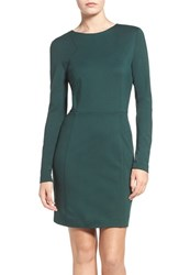 French Connection Women's Lula Stretch Sheath Dress Pine Forest